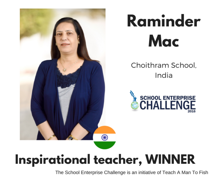 Inspirational Teacher Winner - Raminder Mac