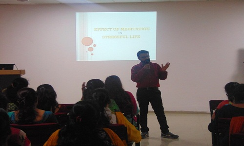 Session on 'Effect of Meditation in Stressful Life' by Mr. Vinay Sharma 1