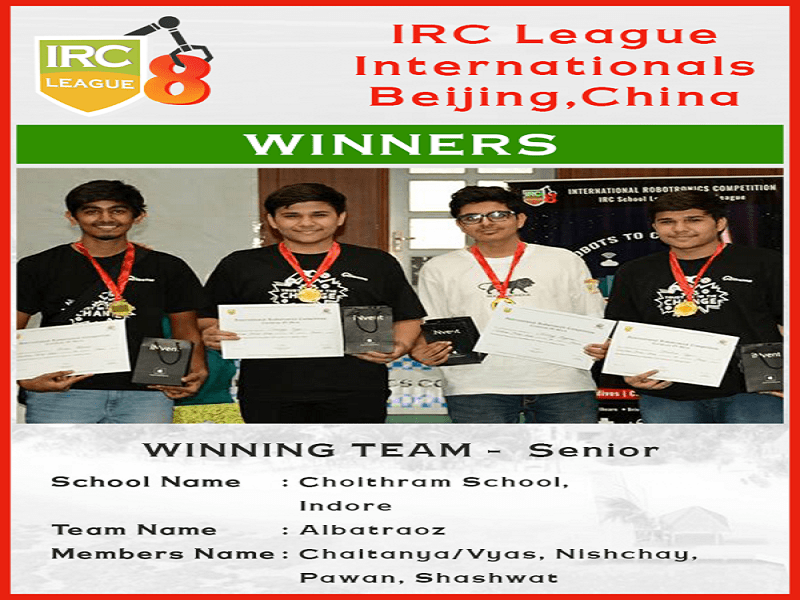 Choithramians Emerge Winners in International Robotronics Competition